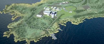 Fennovoima's plan for the Hankivi nuclear power plant, conceptual image.