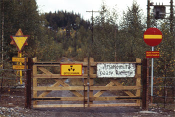 The entrance to the uranium mine