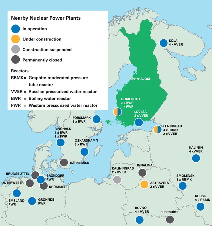 Nearby Nuclear Power Plants
